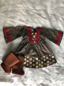 American Girl Doll Country Tunic, Jeans and Boots set