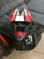 Fox dirt bike and atv helmet