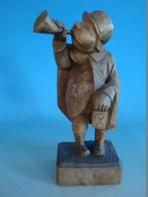 RS0817-086: Figur Nachtwächter Holz Linde