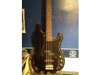 Shine 4 string bass guitar