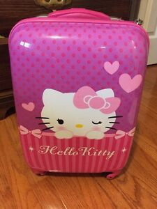 Hello kitty hard shell suitcase for sale