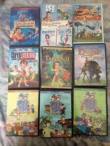 12 Kids DVDs - $10 Altogether