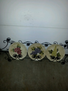 Wall plates and wrought iron hanger