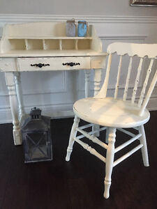 Rustic French Country Shabby Chic Desk and Chair
