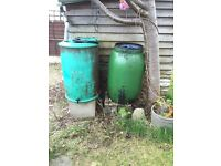 Water butts ... Free to collect