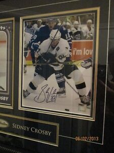 Sidney Crosby Tim Hortons/Pittsburgh Framed Collectible London Ontario image 2