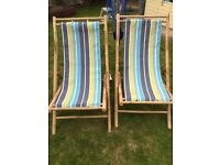 Deck chairs x2