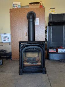 New Valor Portrait President Freestanding gas fireplace