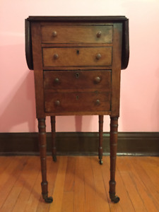 An English Rosewood Drop-Leaf Side Table, Circa 1820's.