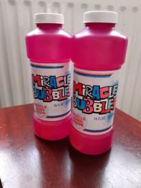 Miracle Bubble Liquid 2 Large Bottles