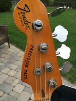 Late 70's left hand Fender Precision bass