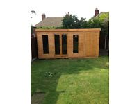 16x10 combination summerhouse shed