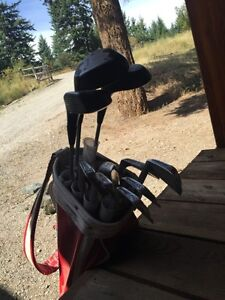Golfing kit and clubs
