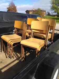 FREE wooden stacking chairs