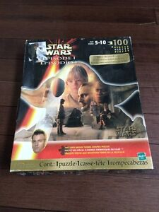 Four 100 piece episode I Star Wars puzzles