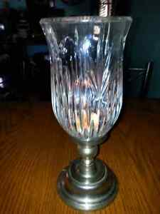 VINTAGE SILVER PLATED HURRICANE CANDLE HOLDER