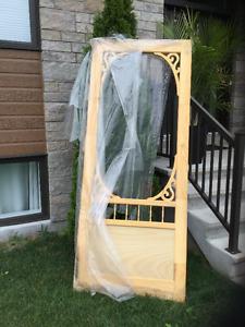 Porte à moustiquaire