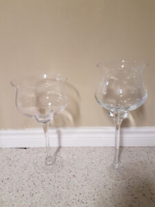 Clear glass vases for wedding decor, candy bar or candles