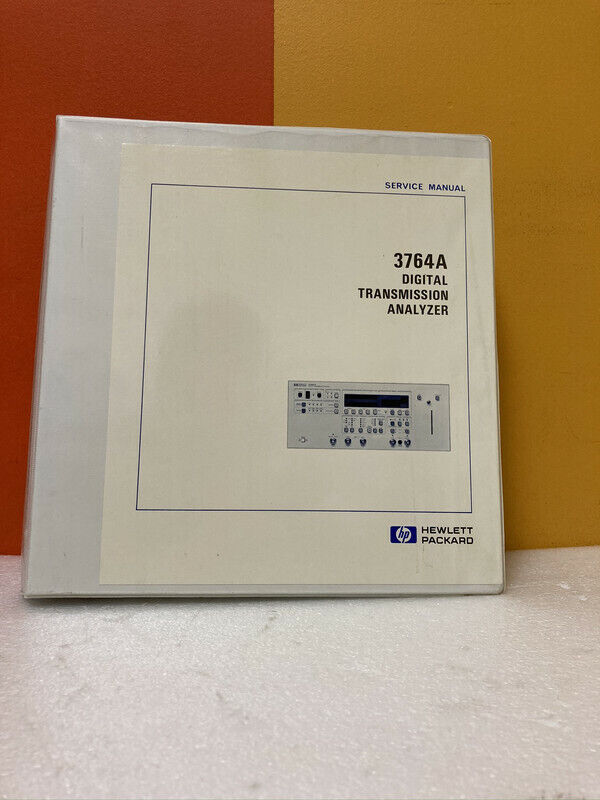 HP 03764-90012 3764A Digital Transmission Analyzer Service Manual