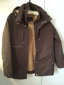 Ladies Lands End Maroon Brown Coat Size Medium (10-12)