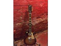 Gibson Les Paul Custom Copy Guitar. Chord with Gibson Decals. Full Gloss Sunburst.