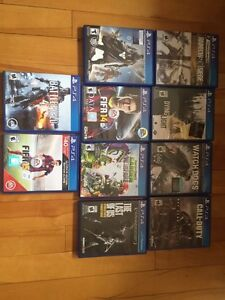 10 PS4 games in excellent condition for cheap