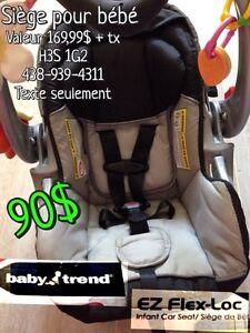 Baby Trend Ez Flex-Loc seat. / siège d'auto 0-22 lbs