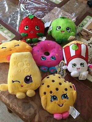 "NEW plush doll shopkins (asst) 6pc PLUSH set 6"" Stuffed Play Soft"