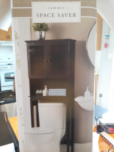 Space Saver Black Cabinet for Over Toilet