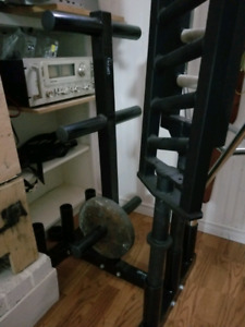 Fitness Avenue Bar Rack and Weight Plate Tree