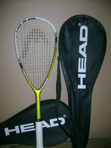squash racquet with cover for sale