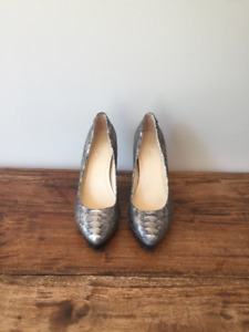 Calvin Klein Metallic Platform Heels - Size 6.5