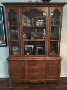 Moving sale, China Cabinet, Table, 2 dressers