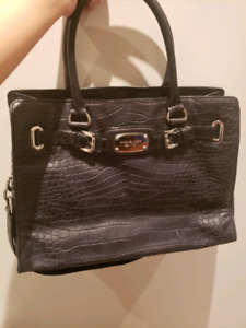 Michael Kors Hamilton croc black purse