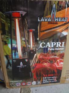 NEWLava Heat Italia Capri Patio Heater,Stainless Steel,42,000BTU
