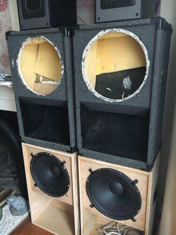 2X 15& PROFESSIONAL PA Mini Scoop Bass Bins - £130.00 ... |Scoop Bass Bins
