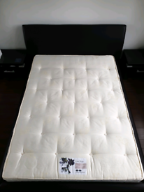 Double Bed Frame with used once mattress