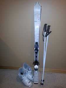 Girls Skis, Boots, Poles