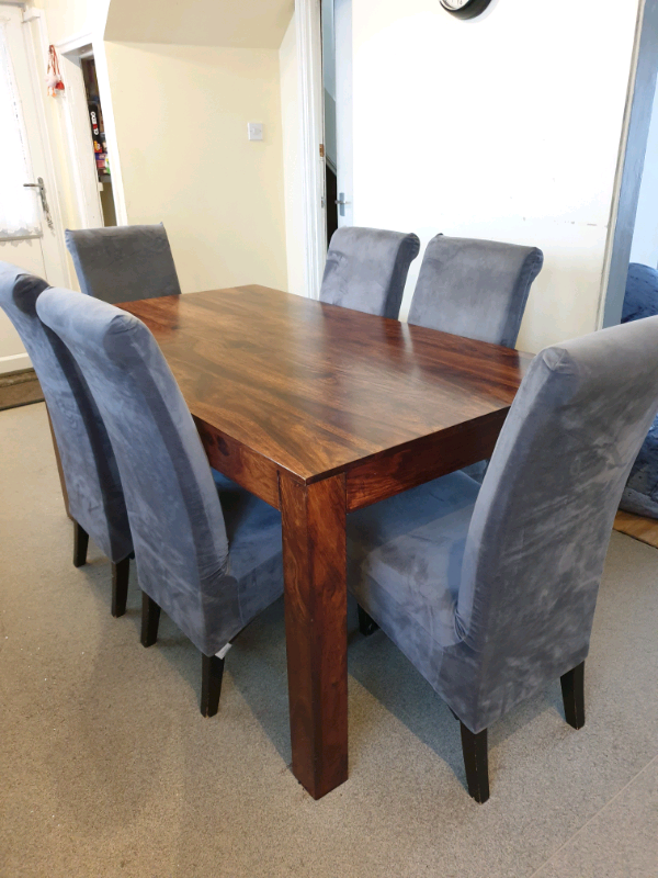 Solid wood dining table and chairs | in Plymouth, Devon ...