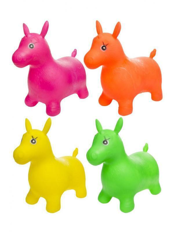 Hüpftier Pferd verschiedene Farben Hüpfpferd aufblasbar