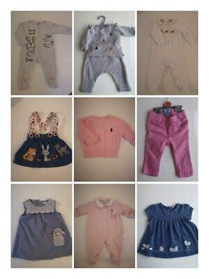 Baby girl clothes 0 months to 12 months varied