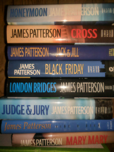 Lots of James Patterson books