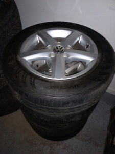 """15"""" VW GOLF RIMS WITH TIRES"""
