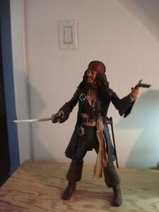 Figurine:  Capitaine JACK SPARROW de Disney, NECA ( avec sons )