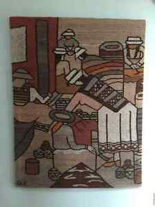 Wool tapestry wall hanging