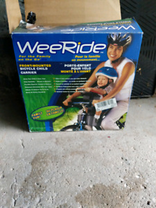 Weeride front mounted bicycle child carrier