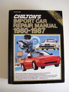 Chilton's Import Car Repair Manual 1980 – 1987