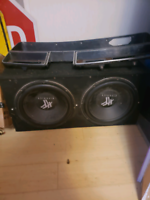 """Hifonics 2 12"""" subwoofers in box work great"""