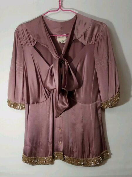 TRACY REESE Silk Blouse (size 8) - Purple