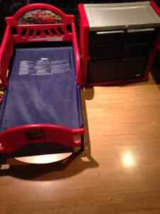 Toddler Cars Bed and Dresser